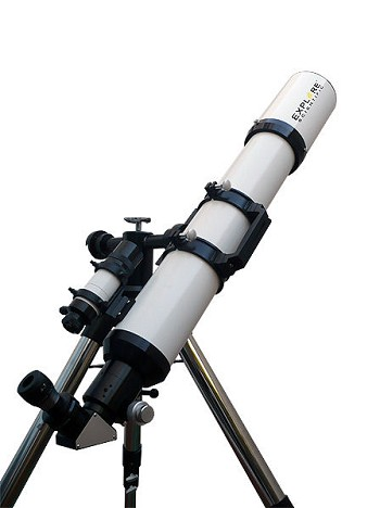 Explore Scientific ED127 127mm f/7.5 Air-Spaced Triplet Apochromatic Refractor with Bresser EXOS-2GT GoTo Mount