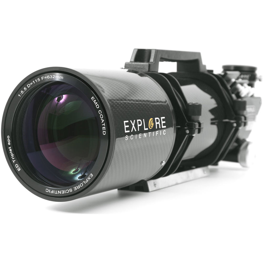 Explore Scientific ED115mm f/5.5 Air-Spaced APO Triplet CF Refractor (OTA Only)