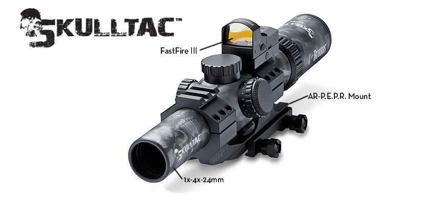 Burris Skulltac 1x 4x 24mm Illuminated Riflescope W Ballistic Cq 556