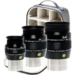 Explore Scientific 68°  16mm, 24mm, 34mm Argon-Purged Waterproof Eyepiece Set with soft sided case