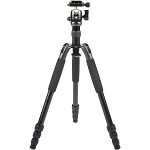 Sirui T-004 Aluminum Tripod with B00K Ball Head (Black)  - Compact Travel Tripod Kits
