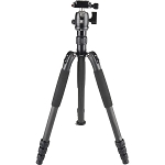 Sirui T-024SK Carbon Fiber Tripod with B-00 Ball Head (Black) - Compact Travel Tripod Kits