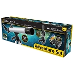 National Geographic Deluxe Adventure Set: 50 mm Carbon Fiber Telescope, 900x Microscope Set w/Binoculars